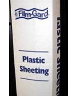 Plastic sheeting for dust containment