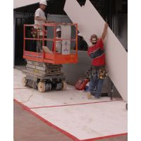 Concrete floor protection with EZ cover protection