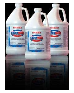 Shockwave disinfectant and sanitizer fiberlock