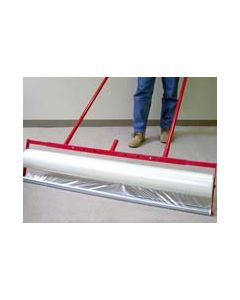 Expanding carpet film applicator