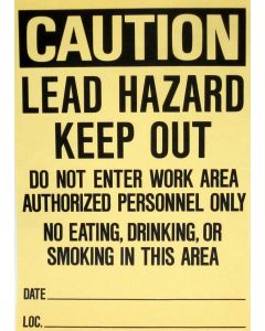 Lead Hazard Sign for remodeling