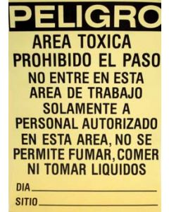 Lead Hazard Sign spanish for construction