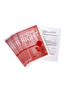 Renovate Right Brochures RRP EPA