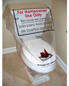 prevent toilet use during construction