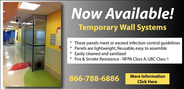 Edge-guard temporary wall systems